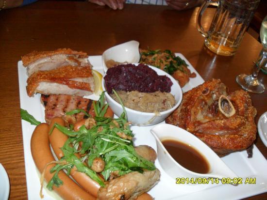 Bavarian Bier Cafe: Mixed Platter