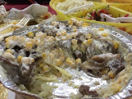 Barajas Tacos: Papas Rellenos - a veritable potato casserole feast for 90 pesos!