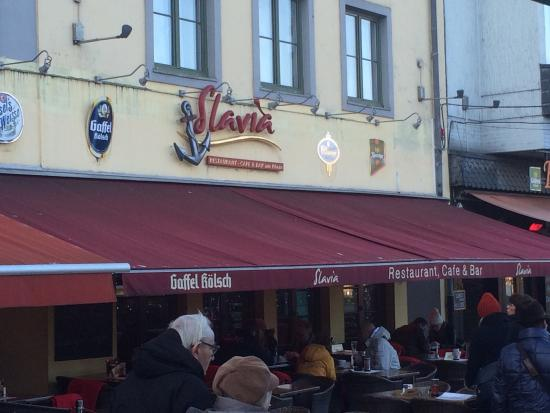 Slavia: The restaurant front