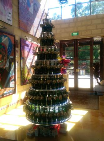 Laurance of Margaret River: Love the Xmas tree made with the wine bottles