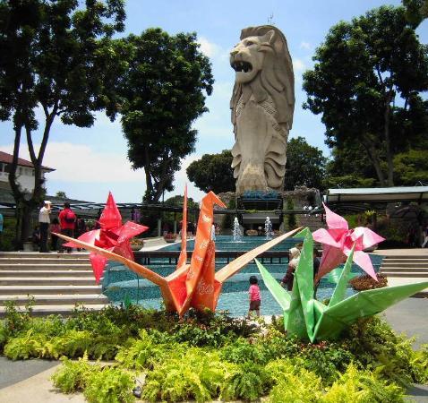 สิงโตทะเล เซ็นโตซ่า: Sentosa Merlion Nex to Origami