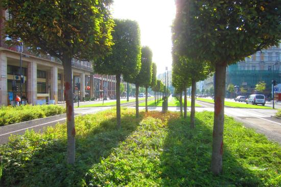 Arcadia Hotel Budapest: Trams conveniently located out front