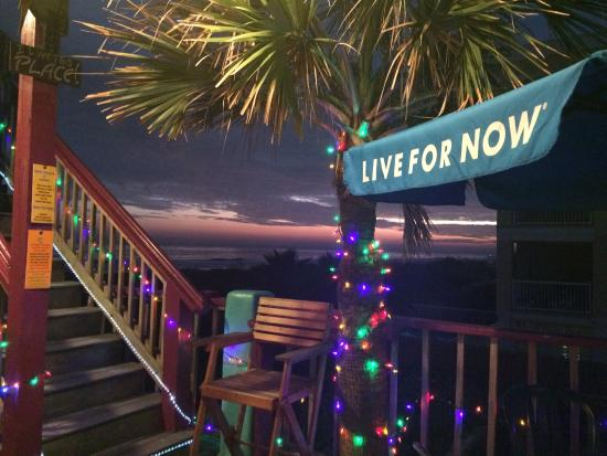 Coconut Joe's Beach Grill: View from the host stand dressed for the holidays