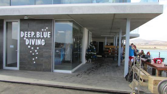 First dive photo de deep blue diving base caleta de - Deep blue dive centre ...