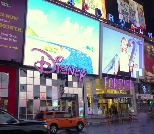 disney store sign and entrance