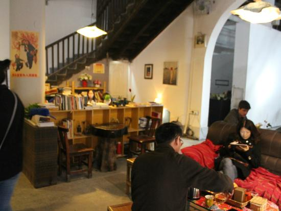 Xiaozhou Village Wei Cafe inside Communist Assmebly Hall