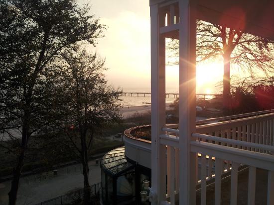 Travel Charme Strandhotel Bansin: Blick auf´s Meer vom Zimmer aus