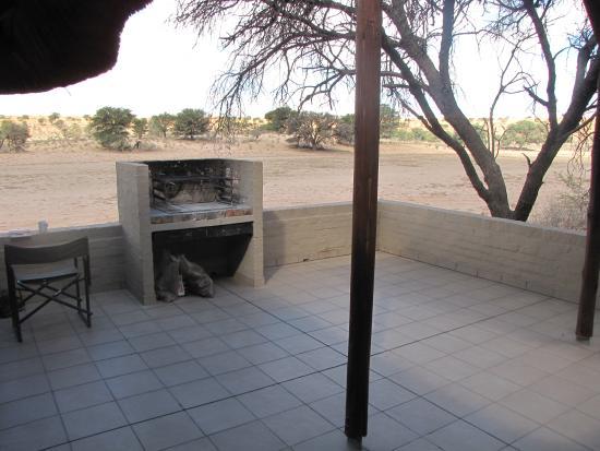 Mata-Mata Rest Camp : River Chalet (la terrasse)