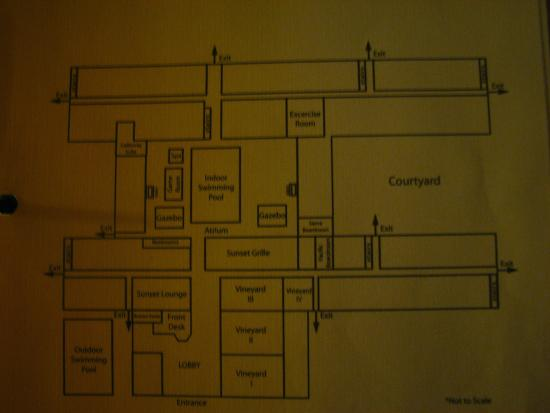 Clarion Inn Conference Center: Layout of hotel