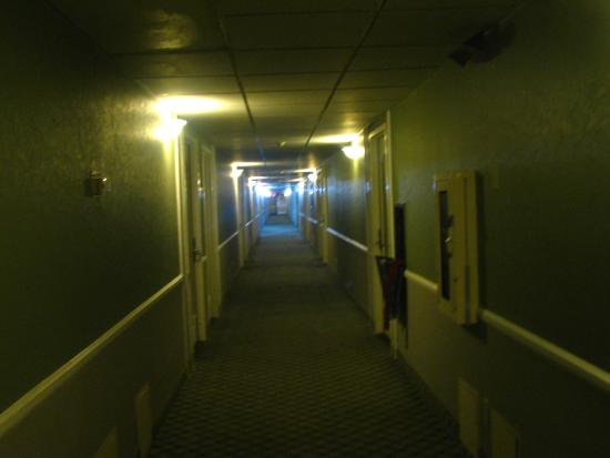 Clarion Inn Conference Center: One of many corridors