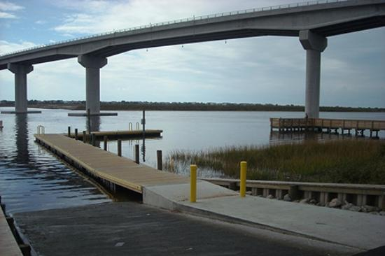 Sea Trail Golf Resort Conference Center Boat Dock And Fishing Pier On Intercoastal Waterway