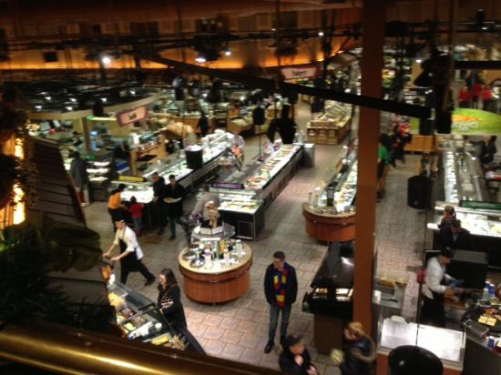Cafe at Wegmans: View of dining room from balcony