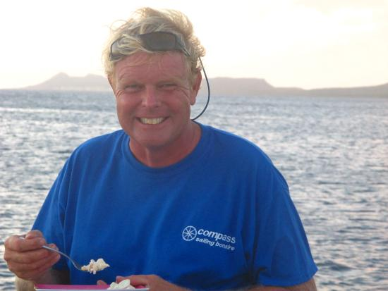 Compass Sailing: The always smiling Captain Wim