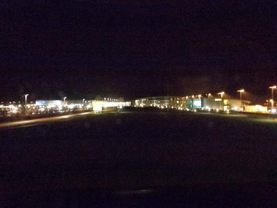 Zleep Hotel Billund: view from 1st floor towards airport of Billund