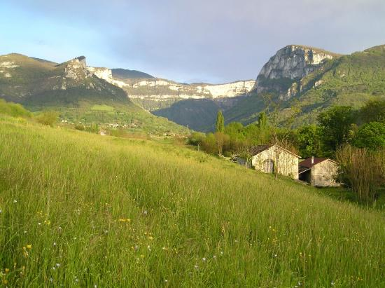 Saint-Laurent-en-Royans, France : Vue sur Combe Laval
