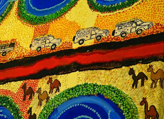 Peinture moderne aborigene picture of museum of contemporary art sydney tripadvisor for Peinture moderne
