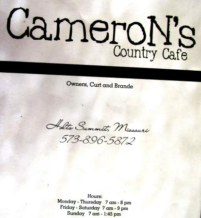 CameroN's Country Cafe Holts Summit MO