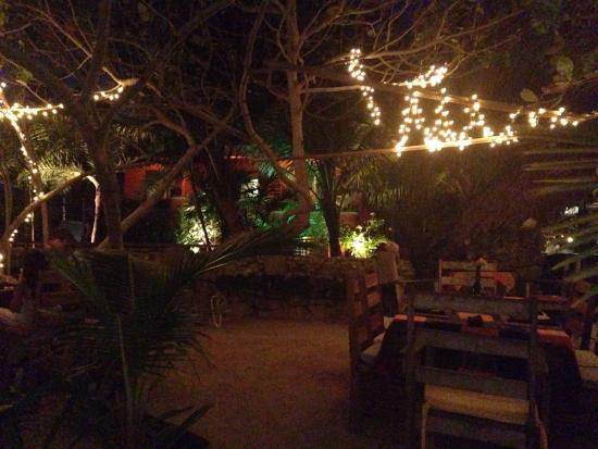 Aji Tapa Bar & Restaurant: Dinner under the lights