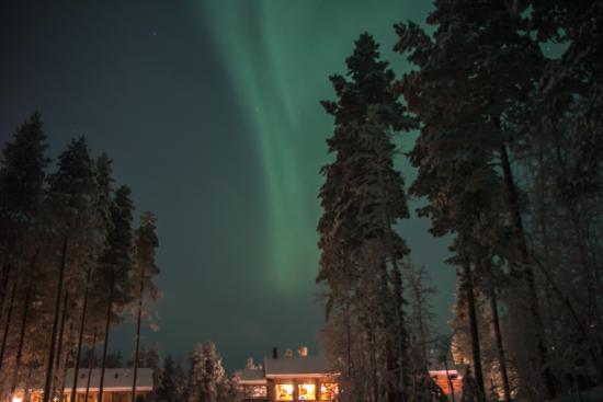 Winter night at Basecamp Oulanka
