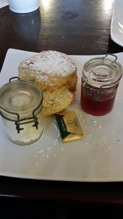 The Good Room: Plain scone with cream and jam! Delicious!