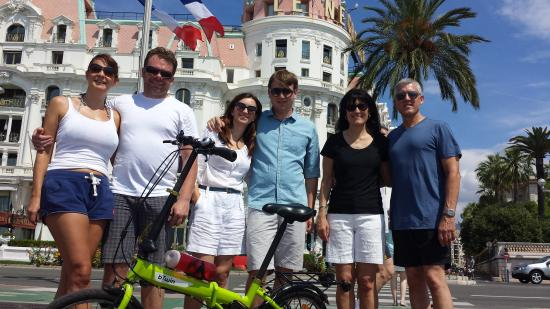 Nice Cycle Tours : Annabel, Ashton, Bianca, Christian, Greg and Sandy:  Friends we met that day
