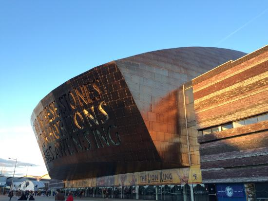 Image Wales millenium centre in South Wales