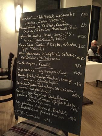 Villandry: The menu is changing on a daily basis and the chef uses a lot of local, organic and seasonal ing