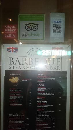 BBQ Steakhouse : вход. пора бежать