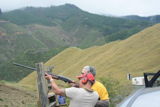 Nelson, New Zealand: Clay shooting using shotgun