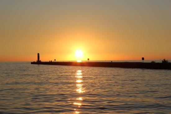 Sailing South Haven: sunset of south haven