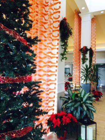 Hilton Garden Inn Wilkes Barre: Festive Lobby!