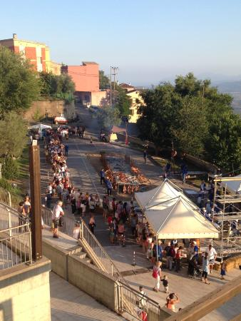 Hotel Bia Maore: Suckling Pig Festival-a couple short steps down from B&B