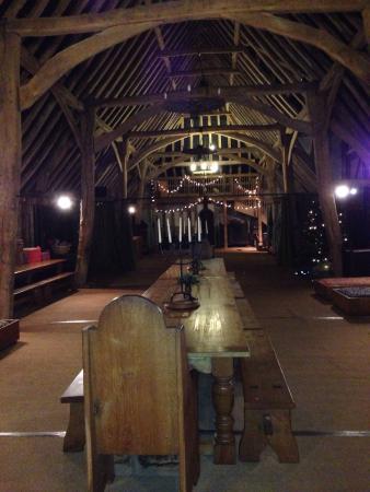 Milden Hall B&B: The barn on arrival