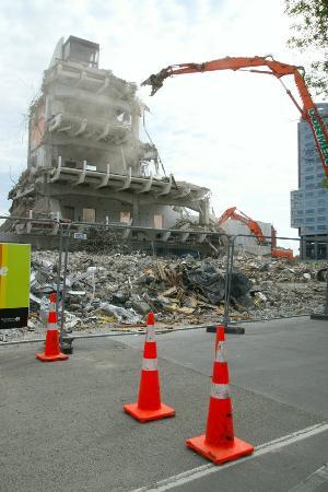 Heritage Christchurch : Downtown demolition