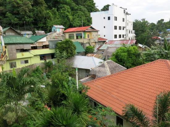 Island Jewel Inn: View of the neighbourhood from our room. Dogs and Catfights in the night.