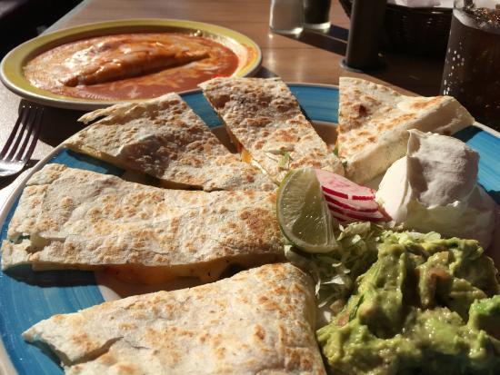 Las Cambritas: Cheese Enchilada and Cheese Quesadilla