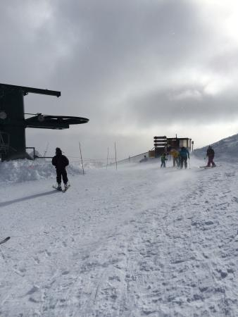 Kirkwood Mountain Resort: Vincent Olenik of Reno, NV photo at Kirkwood Peak.  The winds are quite high at the peaks and yo