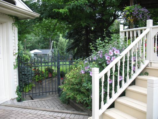 Amadeus Haus Bed & Breakfast: Entrance to Back Yard off Driveway