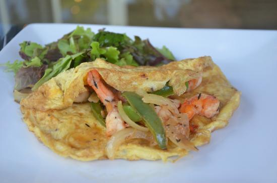 The Blue House Boutique Bed & Breakfast: My plate of Shrimp Omelete
