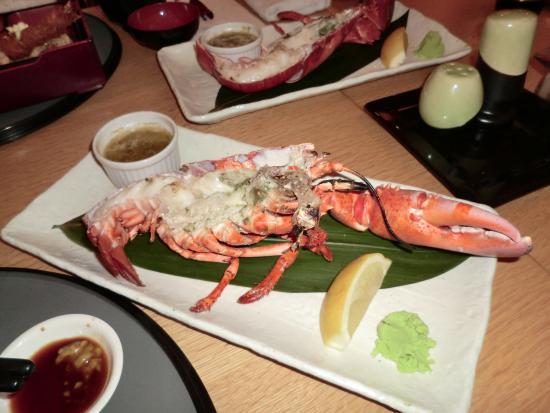 Japanese Restaurant WAON: 焼き上がったロブスター 美味しかった