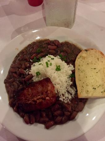 The Marigny : Monday special: red beans and rice. Yummy.