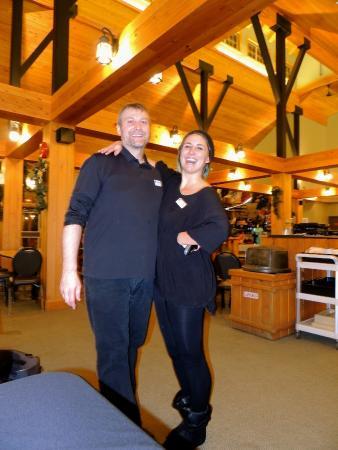 Great team for Fondue dinner at Raven Lodge!