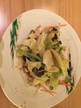 Asuka Japanese Dining: Salad with sesame dressing - yum!