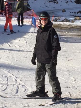 Hotel Les Sorbiers : My sons first day on skis
