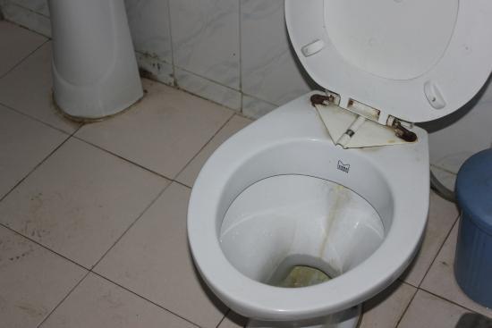 Hotel Sangam : Dirty unhygenic Bathroom
