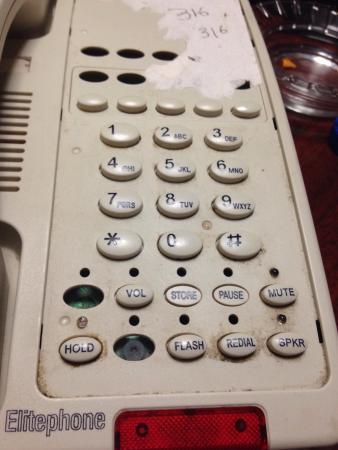 Howard Johnson Inn Clifton NJ: The telephone inside the room