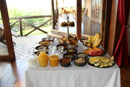Escarpment Luxury Lodge: petit déjeuner
