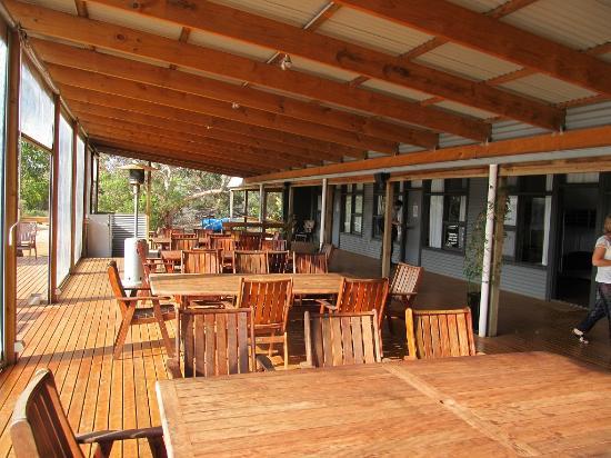Vivonne Bay Lodge: Terrassenbereich