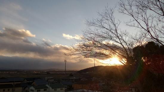 Kanko Ryokan Fuji: Kirei. Beautiful sunset.