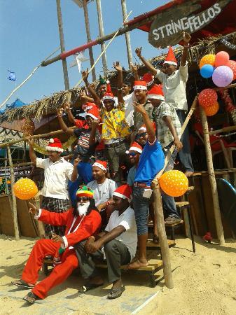 Stringfellows Beach Shack: All the staff pn Christmas Day